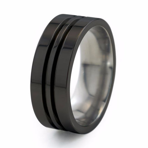 Equinox | Black Titanium Ring