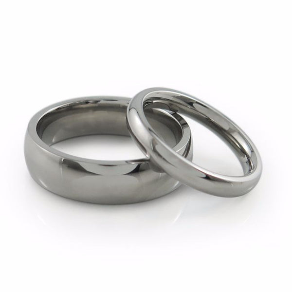 Classic simple titanium ring or wedding band