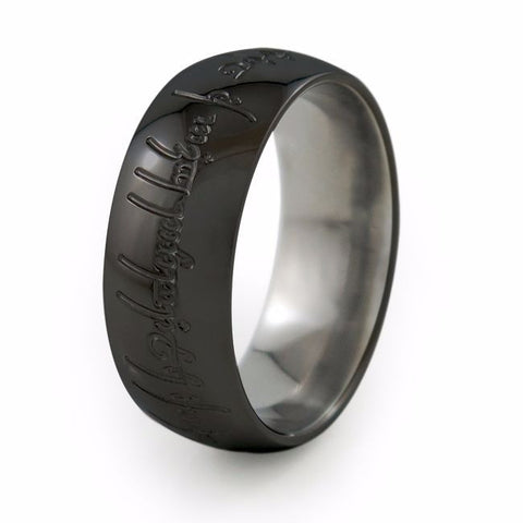The One | Black Titanium Ring