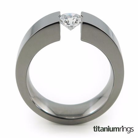 The Proxima Titanium engagement ring is a bold ring that lifts up your chosen Diamond or gemstone to accentuate it's glimmer.