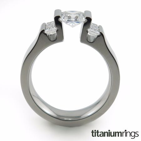 engagement ring, Titanium Engagement Ring, Canadian Diamond, Diamonds, Round Cut, Wedding Ring, Solitaire Engagement