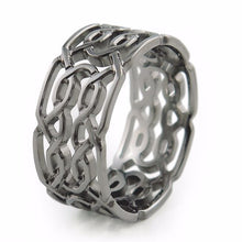 Mens Celtic knot pattern ring, mens ring, mens wedding ring