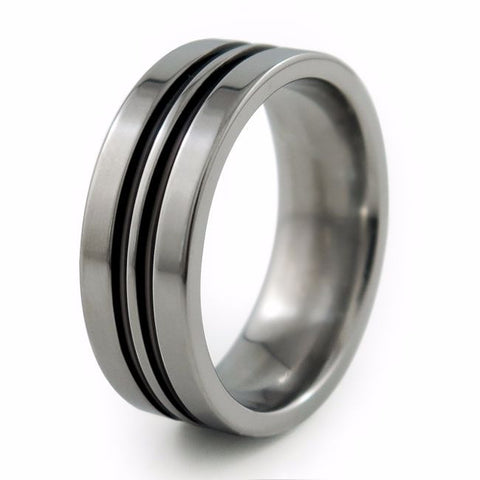 Equinox | Enamelled Titanium Ring