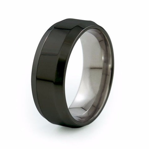 Ascent | Black Titanium Ring