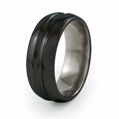 Synapse | Black Titanium Ring