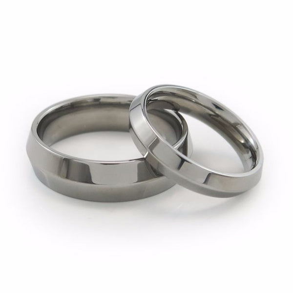 Mens & Ladies Titanium Wedding bands with comfort fit