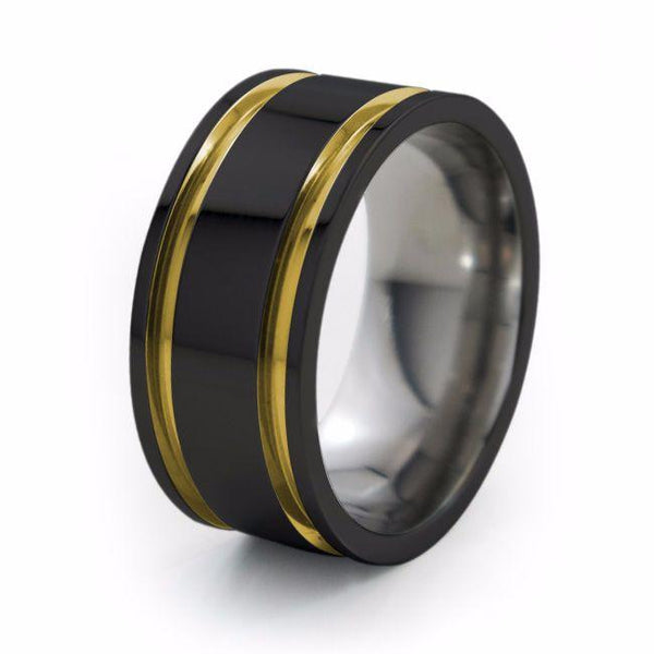 Abyss | Black Titanium Ring