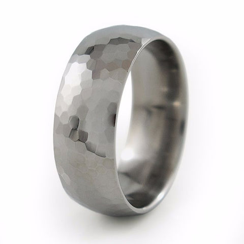 Crater | Mens Titanium Ring