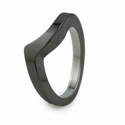 Stella | Companion Black Titanium Ring