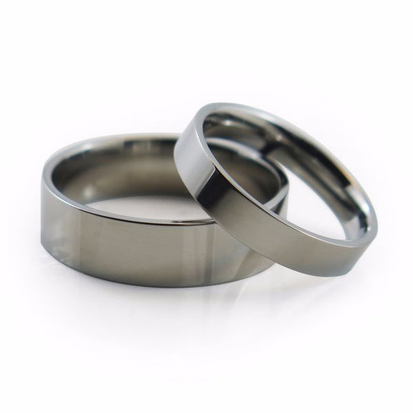 Our Stealth Titanium ring with its extra-low flat profile, simple ring with a comfort fit.