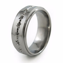 Barbed wire titanium Ring with comfort fit