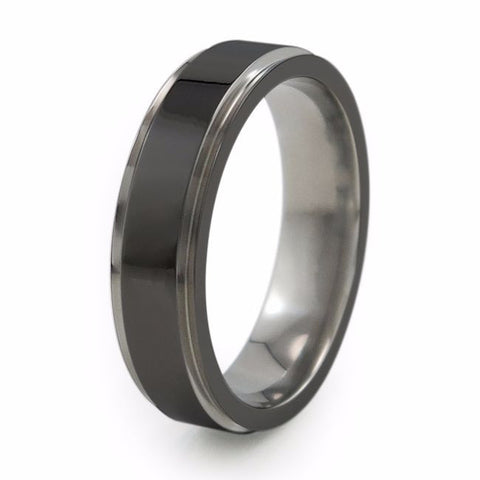Samurai | Two-Tone Titanium Ring