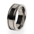 Abyss classic Titanium ring for men. A traditional wedding ring design.