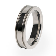 A traditional Titanium wedding band with a comfort fit and lifetime warranty