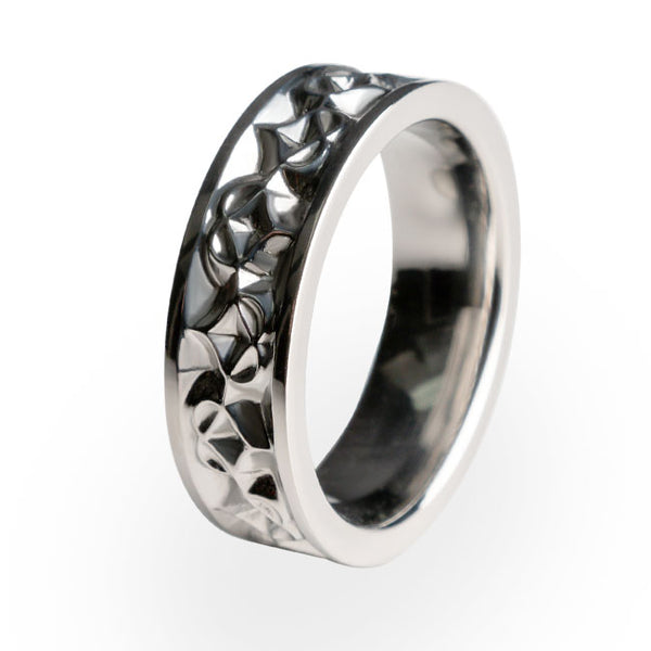 women's traditional titanium ring. Wedding ring. Engagement ring.