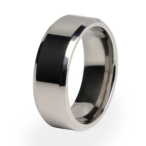 Apex Titanium ring. With comfort fit and free lifetime warranty. A perfect mens ring or women' s ring.