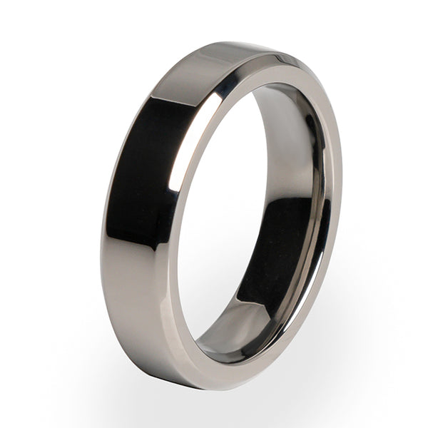 Simple yet stunning Women's Titanium ring. Wedding ring or special occasion ring.