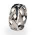 Celtic inspired titanium ring. Wedding ring for men and women