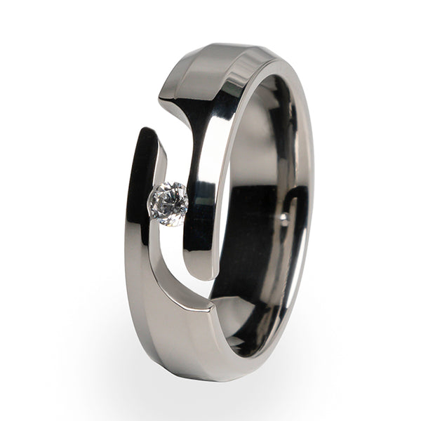 Ascent Journey Cut Titanium Ring-journey cut-Titanium Rings