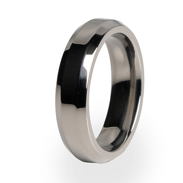 Ascent Titanium ring.  Polished with a comfort fit.  Free lifetime warranty.