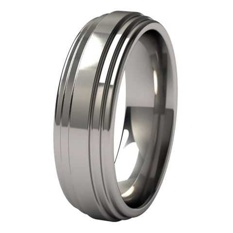 Aztec | Mens Titanium Ring