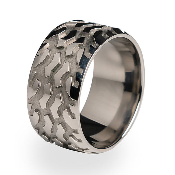 Titanium ring for the off road enthusiasts.  Made from pure titanium.