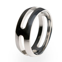 A strong and lightweight Titanium ring. Polished to perfection with an inside comfort fit.