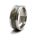 Buckeye Burl Titanium Ring with Wood Inlay