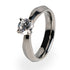 Titanium ring with diamond for women