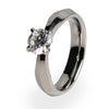 Cleopatra 6mm(±0.90 ct)Solitaire Titanium ring