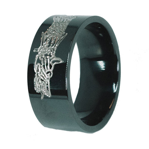 Dacian Dragon Two-Tone Titanium Ring