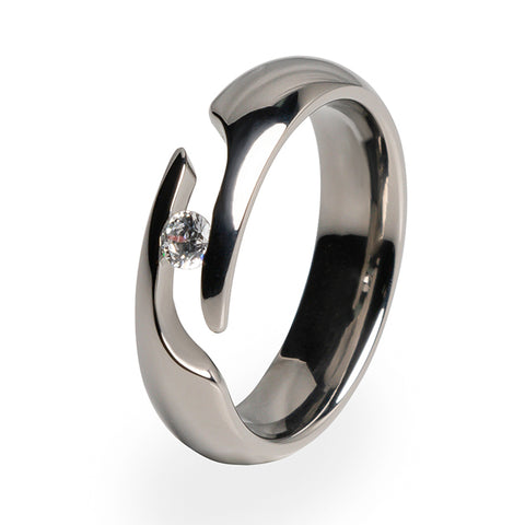 Eclipse Journey Cut Titanium Ring