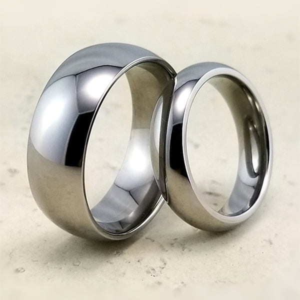 Classic domed Eclipse titanium ring
