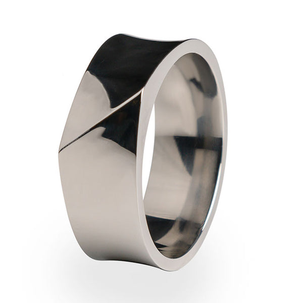 The Edge Titanium ring. A unique design perfect as a wedding ring or gift to yourself.
