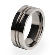 A Titanium ring for men or women. Comfort fit and lifetime warranty.