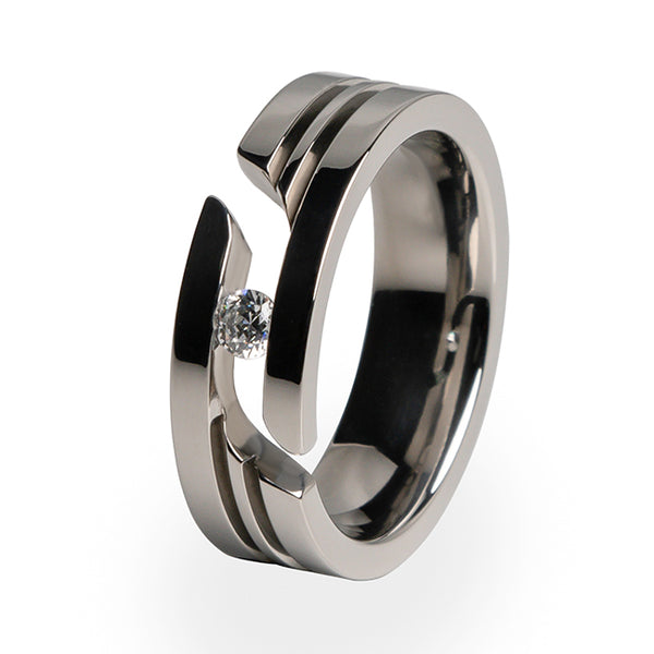 Equinox Journey Cut Titanium Ring-journey cut-Titanium Rings