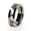Equinox Journey Cut Titanium Ring