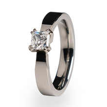 A women's ring for that special occasion or token of your love. A Titanium Wedding ring or Engagement ring.