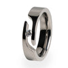 Facia Journey Cut Titanium Ring