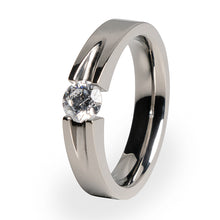 Haly 6mm(±0.90 ct)Solitaire Titanium Engagement Ring