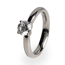 Helena classic Titanium ring with diamond for women