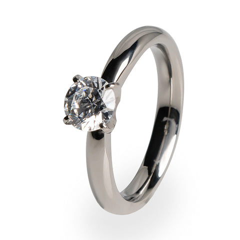 Helena 5mm (±0.50 ct) Diamond Titanium Ring