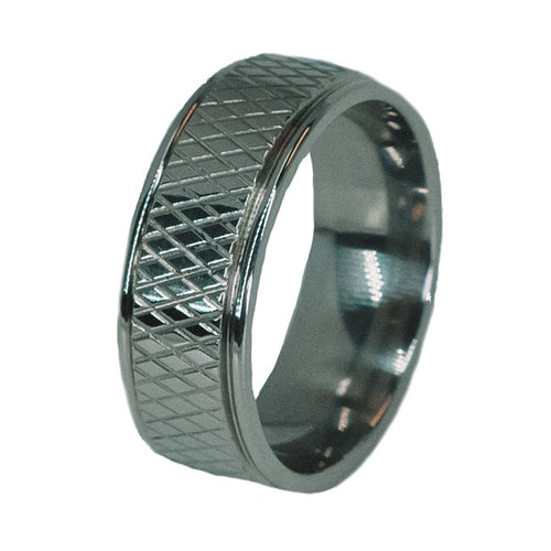 Hockey Puck Titanium Ring