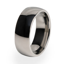 A polished Titanium ring for Men and Women. Wedding ring and special occasions.