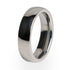 A traditional design titanium wedding ring. Men's ring or Women's ring. Polished finish and a comfort fit.