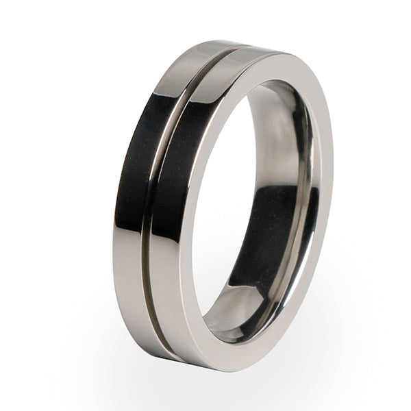 Cool traditional design for Titanium wedding rings and special occasions.