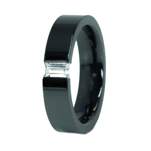 Moderna Black Titanium Ring