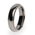 Traditional Titanium ring polished and perfect as your wedding ring or personal gift. Lifetime warranty included