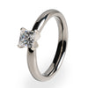 5x5 (±0.75 ct) Solitaire Princess Cut Diamond with White Gold Setting