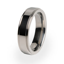 Samurai Titanium ring for women.  Beautifully crafted Titanium wedding ring. Free lifetime warranty.